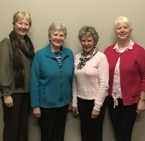 Geraldine Fitzpatrick (Congregational Leader), Deirdre Brady, Mary Cahill and Agnes Miller. <br>These Sisters constitute the Irish Area Leadership Team.