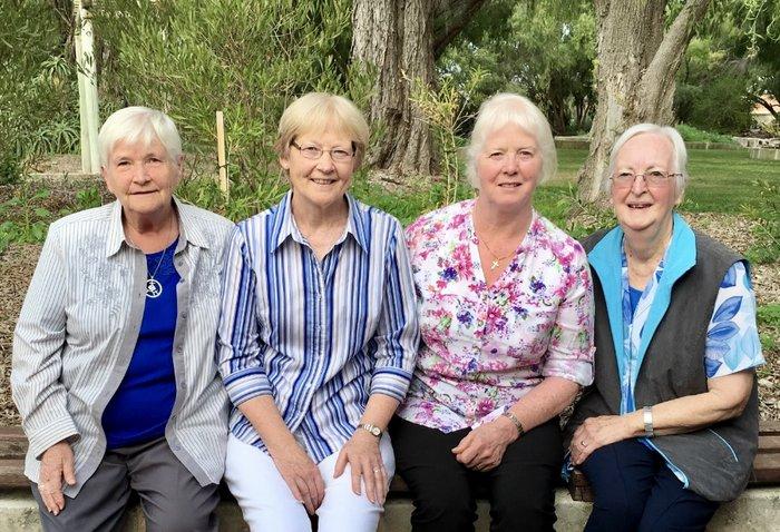 (L to R) Columba Howard, Geraldine Fitzpatrick, Agnes Miller, Isobel Moran