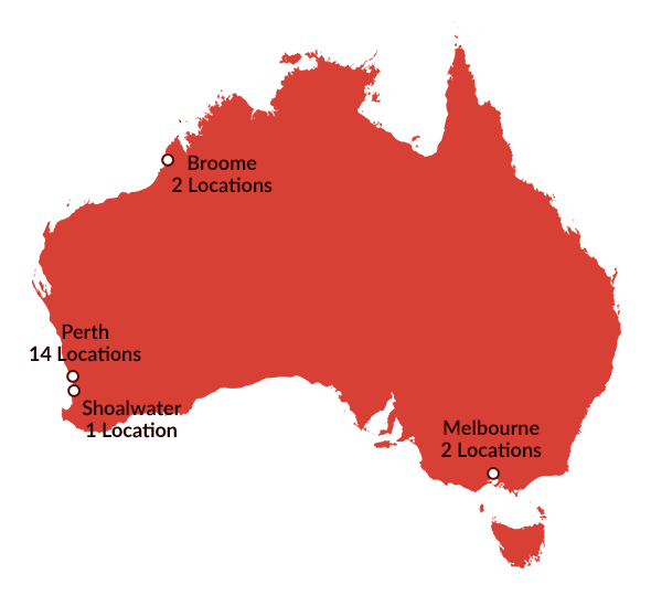 Australia-red-markers-numbered